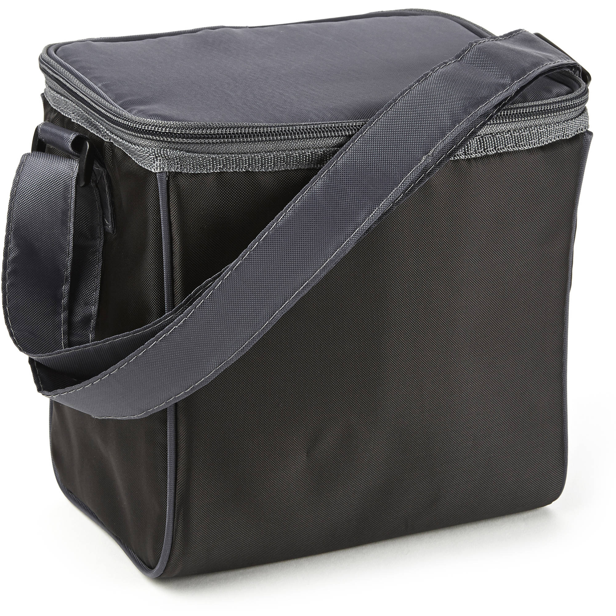 lunch on the go insulated lunch bag black