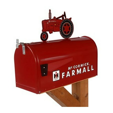 "McCormick Farmall ""M"" Rural Style Mailbox with Tractor Topper"