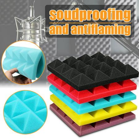 10x10x2 inch Acoustic Panels Studio Soundproofing Foam Wedges KTV Sound Insulation Foam Anti Noise Fire Retardant Tile (Fire Retardant Foam)