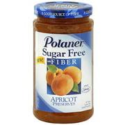 Polaner Sugar Free Apricot Preserves, 13.5 oz (Pack of 12)