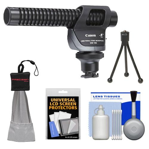 Camara De Video Canon DM-100 micrófono estéreo direccional + Kit de limpieza Mini Spudz VIXIA HF M52, M50, M500, M50, M400, M301, M300, M41, M40, M32, M31, M30, S30, S200, S21, S20, G10, G20 videocámaras + Canon en Veo y Compro