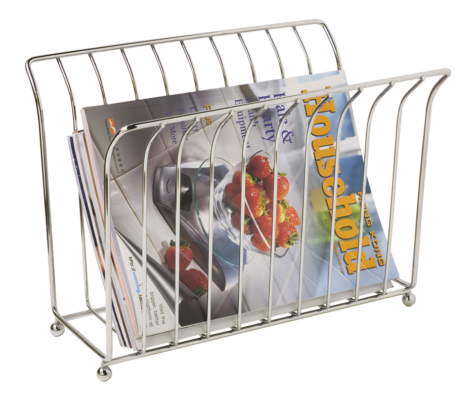 Home Basics Free-Standing Magazine Rack, Chrome by HDS Trading Corp.