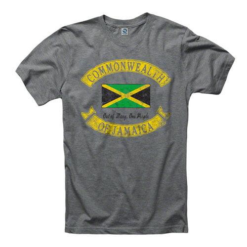 Jamaica Heathered Grey Country Rocker Ring Spun T-Shirt T-Shirt