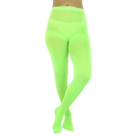 Opaque Stretchy Leotard Tights - Bright Green Tights