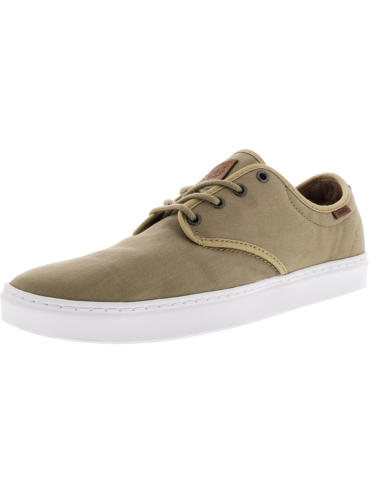 Vans Men's Ludlow + Textile And Leather Khaki / White Ankle-High Skateboarding Shoe - 11M