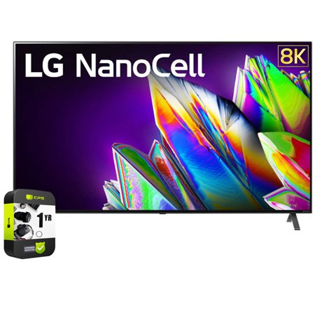 LG 75NANO97UNA 75 inch 8K Smart UHD NanoCell TV with AI ThinQ 2020 Bundle with 1 Year Extended Protection Plan