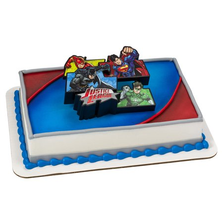 Cake Decorating Kit Kmart : Justice League Cake Decoration Set - Walmart.com