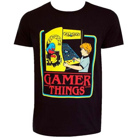 Pac-Man Gamer Things Adult T-Shirt](Pac Man Tie)