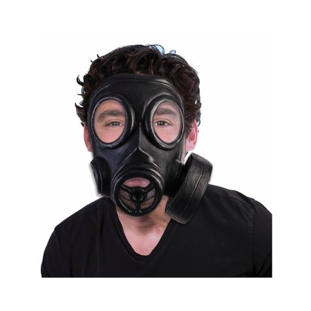 Black Mask Costume (1940's Gas Mask Halloween Costume)