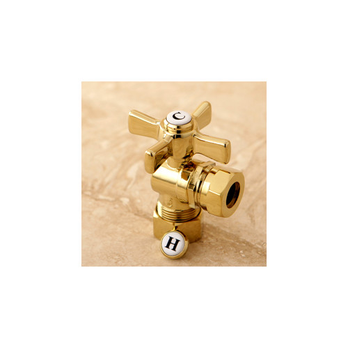 Joint Angle Valve in Polished Brass Finish