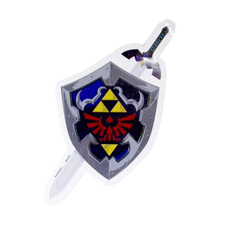 The Legend of Zelda Hylian Shileld & Sword Auto Decal](Legend Of Zelda Sword)