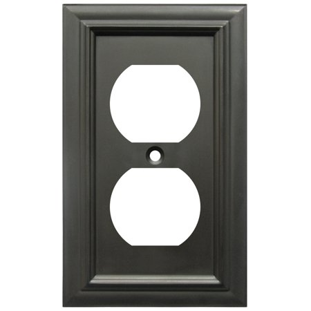 - Amerelle 94DORB Continental Cast Metal Wallplate with 1 Duplex Outlet, Oil Rubbed Bronze