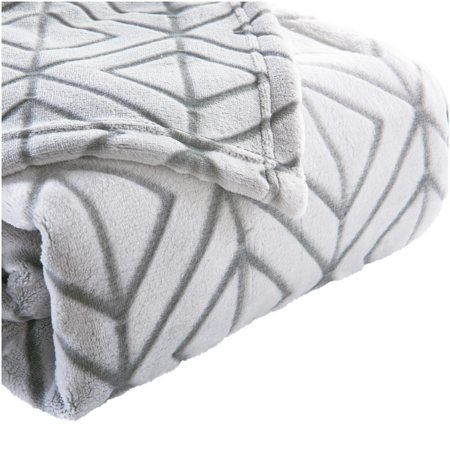 Better Homes & Gardens Velvet Plush Textured Silver Blanket, Full/Queen