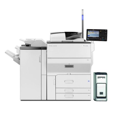 Booklet Finisher (Refurbished Ricoh Pro C5100s Color Laser Production Printer - 65ppm, Print, Copy, Scan, Duplex, Network, Booklet Finisher, Fiery, 1200 x 4800 dpi, A3+/SRA3/A3/A4, 2 Trays, Tandem Tray)