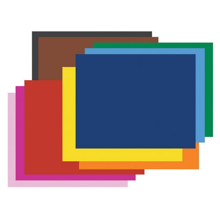 """Pacon® Railroad Board, 4-Ply, 22"""" x 28"""", 10 Color Assortment, Pack of 25"""