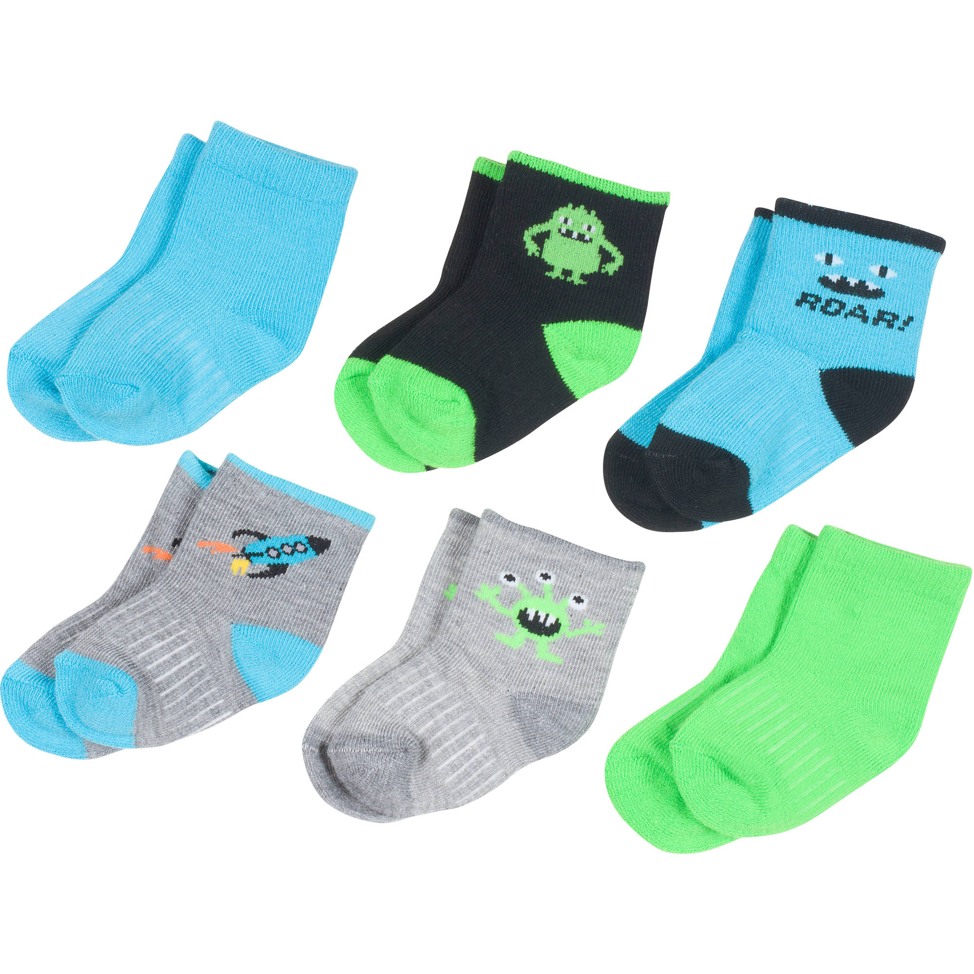 by Peds Boy Infant Monsters 6 Pairs Walmart