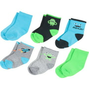Growing Socks by Peds Newborn Boy Monsters Socks - 6 Pack
