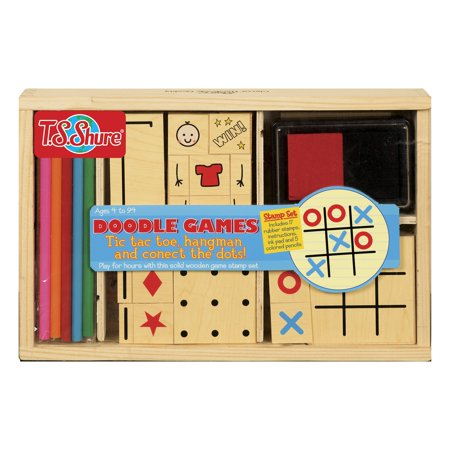 T.S. Shure - Doodle Games Wooden Stamp Set