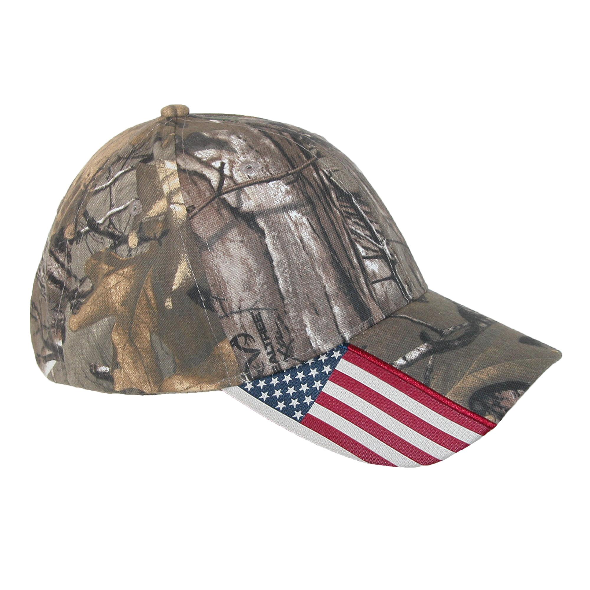 Realtree Xtra Camo and American Flag Baseball Hat by Realtree