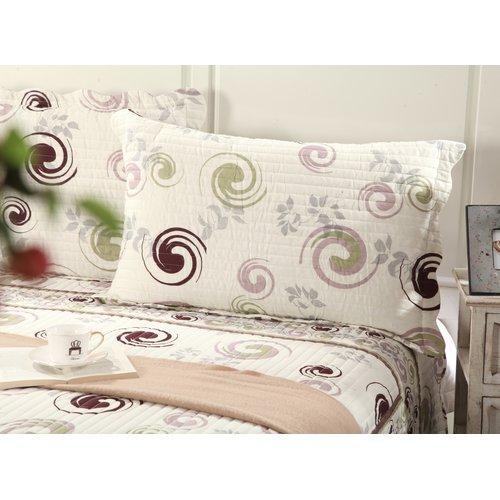 Tache Home Fashion Cotton Reversible Coverlet Set