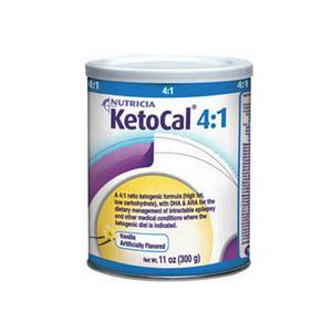 KetoCal 4:1  Vanilla Flavor Powder Can 300g Case of 6