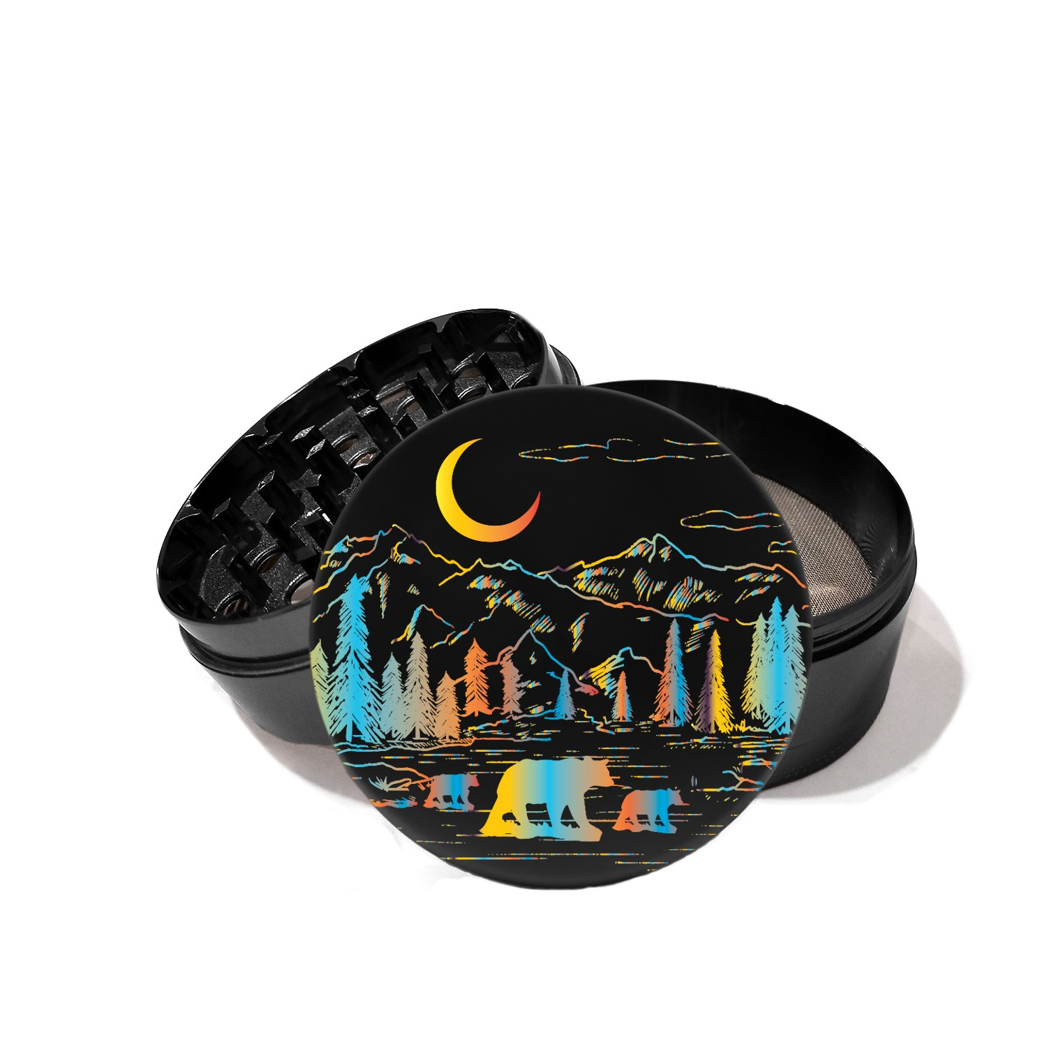 Mountains Wilderness California Bear Moon - UV Printed Grinder