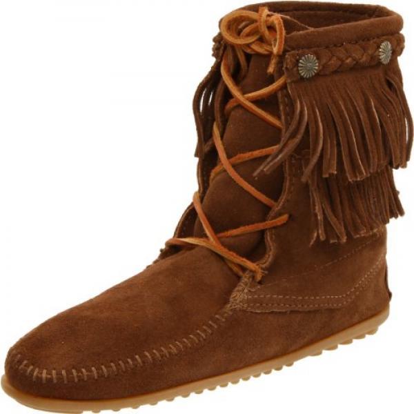 Minnetonka Women's Ankle Hi Tramper Boot,Dusty Brown,11 M US by