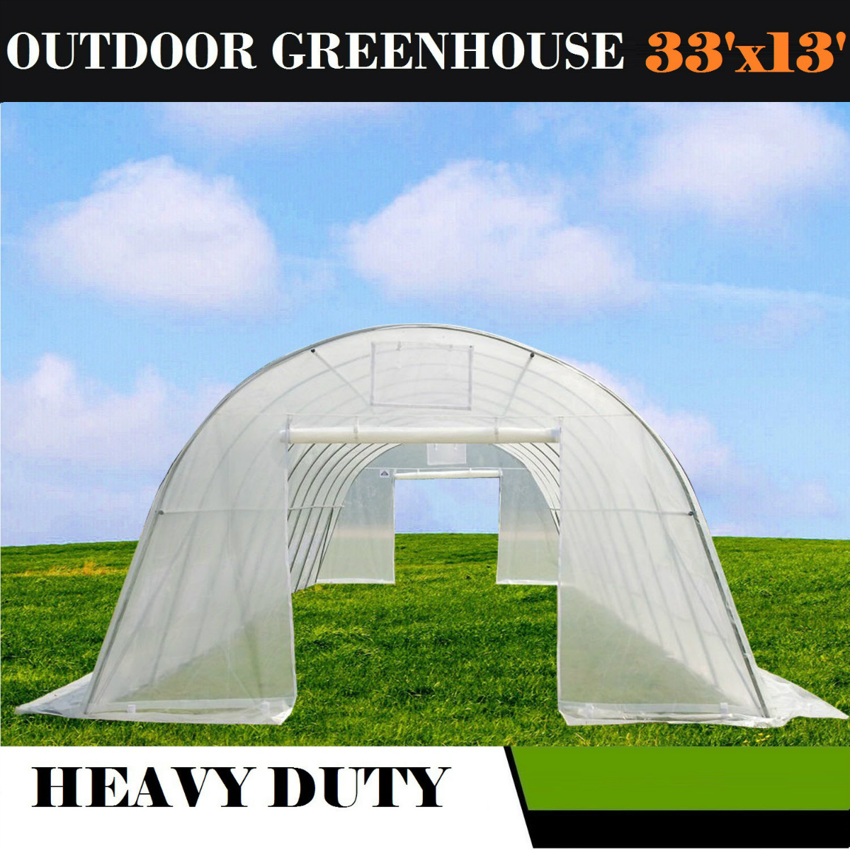 33'x13' Clear Walk-In Greenhouse Hot House By DELTA Canopies by WPIC