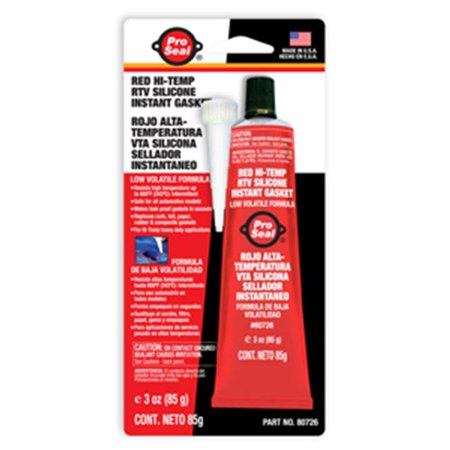 PACER TECHNOLOGY 80726 3OZ  PROSEAL  RED HI-TEMP RTV SILICONE INSTANT GASKET