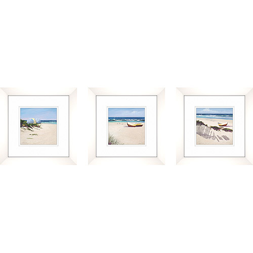 Click here to buy A Day at the Beach Framed Artwork, Set of 3.