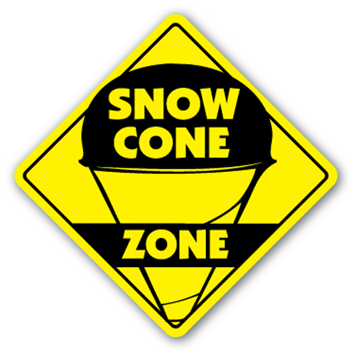 SNOW CONE ZONE Sign snowcone sno kone concessions fair Italian water ice icee
