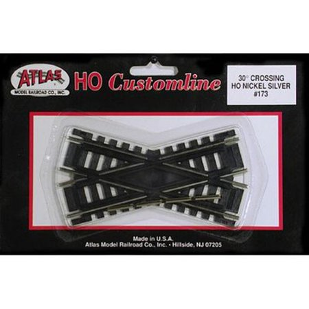 "173 code 100 30 degree crossing track 4"" cl n/s ho multi-colored"