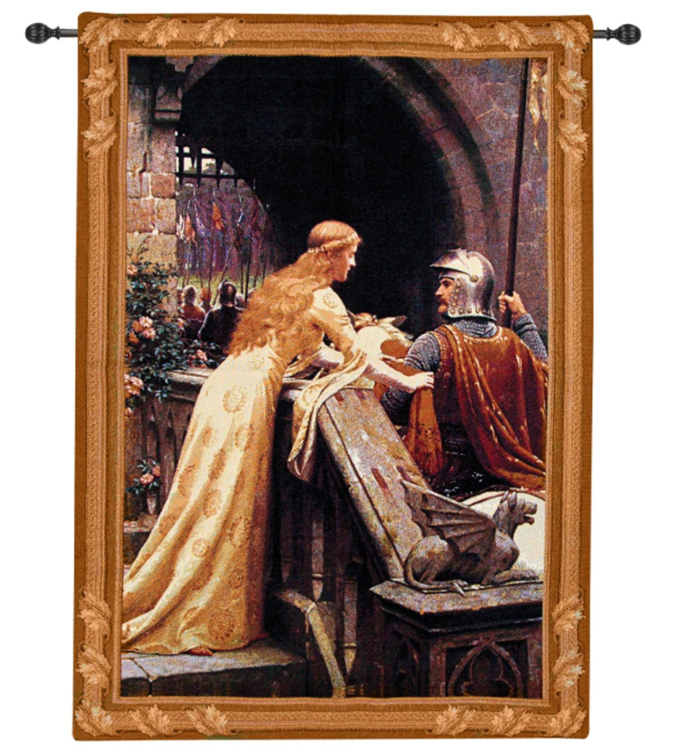 "Lady Messenger Cotton Woven Wall Art Hanging Tapestry 35"" x 26"""