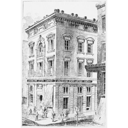 Louisiana Lottery Office Nthe Offices Of The Louisiana State Lottery Company In New Orleans Wood Engraving 1873 Rolled Canvas Art     24 X 36