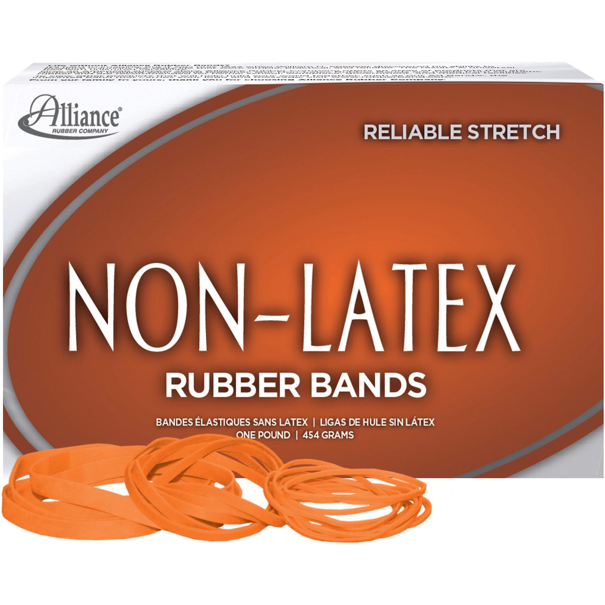 Non-Latex, ALL37546, Rubber Bands, 1 / Box, Orange