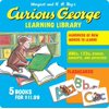 Curious George Learning Library (Paperback Set with Flash Cards)