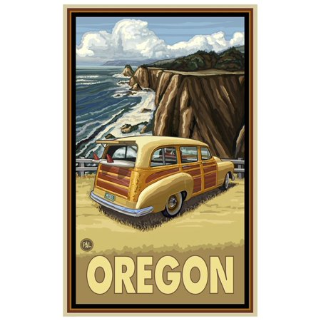 Oregon Pacific Coast Highway Travel Art Print Poster by Paul A. Lanquist (12