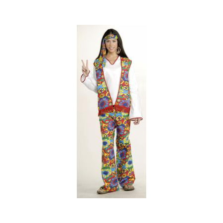 Hippie Dippie Woman Adult Halloween Costume - Womens Halloween Costumes Walmart