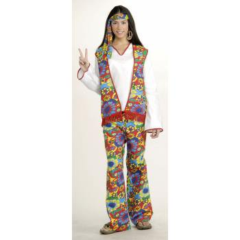 Hippie Dippie Woman Adult Halloween Costume - Dog Hippie Costume
