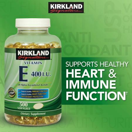 Kirkland Signature Vitamin E 400 Iu 500 Softgels