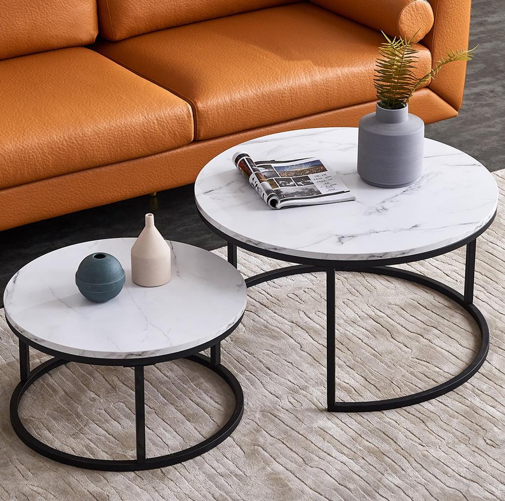 "Top-32"" Modern Nesting Coffee Table Simple Modern Living ..."