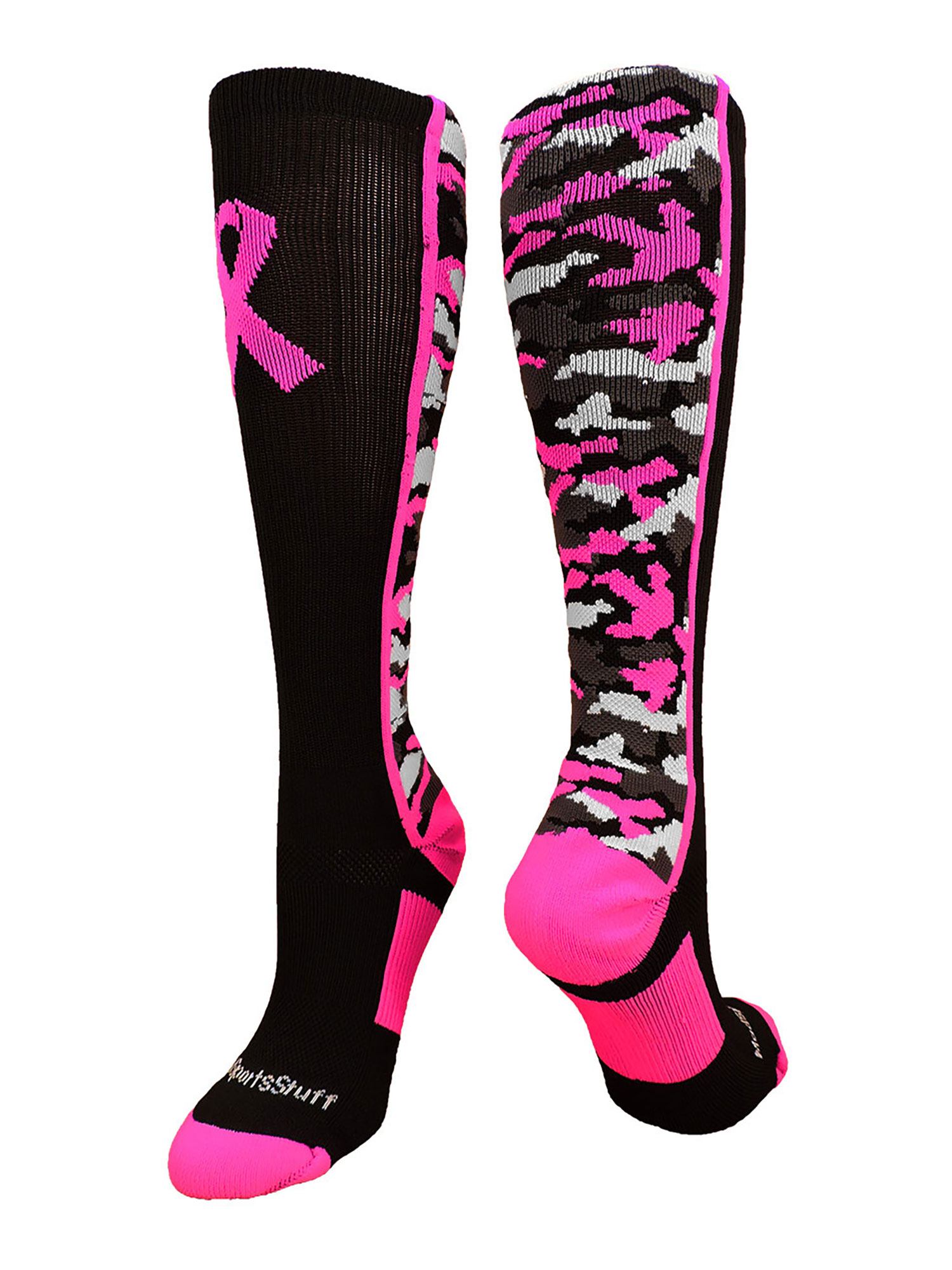 Hot Pink All Sport Athletic Socks For Awareness