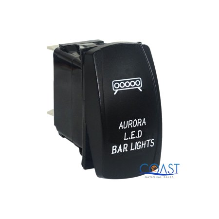 Aurora Bar - RZR Car Trucks Auto Boat Aurora LED Bar On/Off White SPST Rocker Toggle Switch