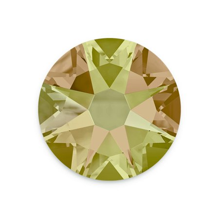 Swarovski Xilion Rose Flat Back 2058 4.7mm Crystal Luminous Green (Package of 10)