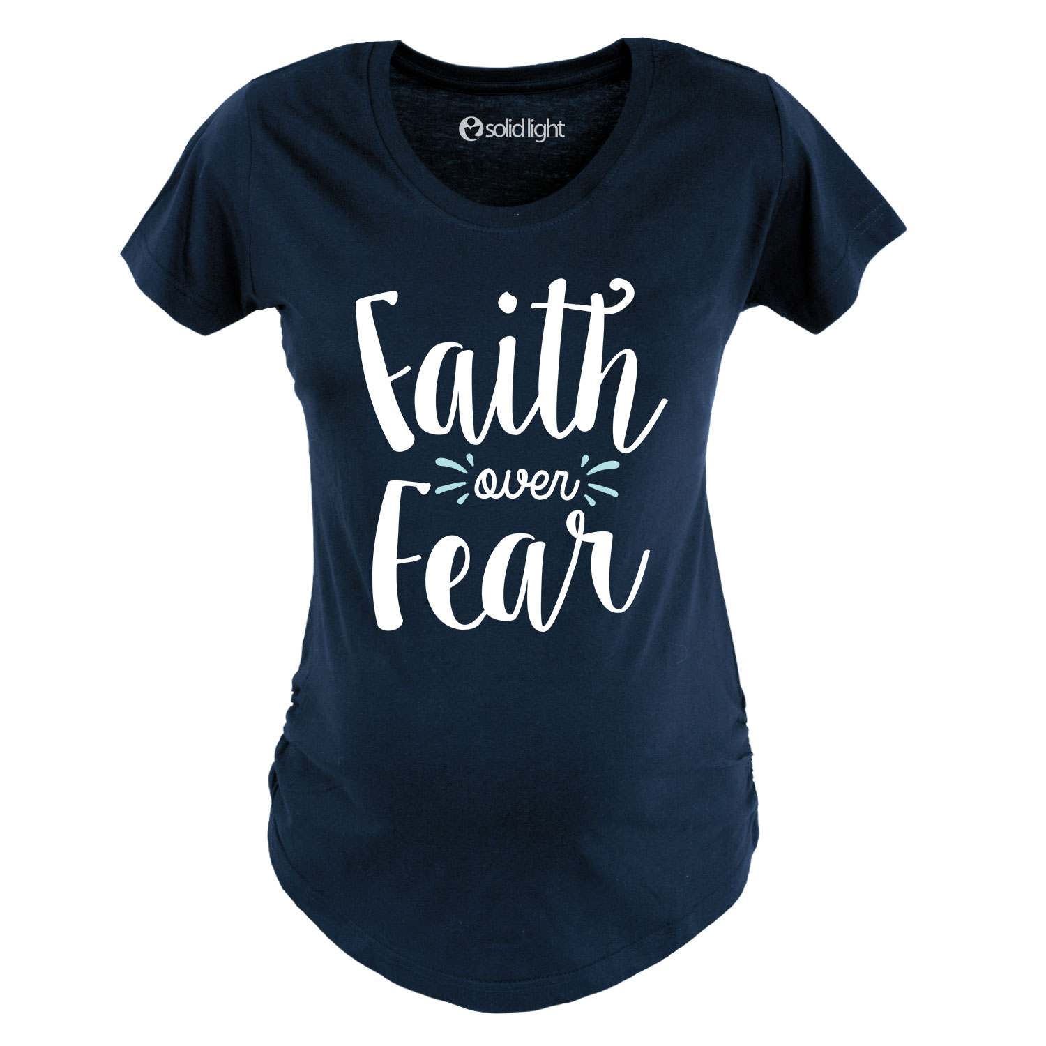 Faith Over Fear - Maternity Scoop Neck Tee