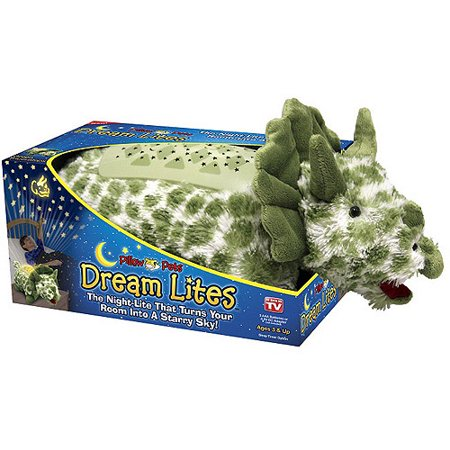 As Seen on TV Pillow Pet Dream Lites, Green Triceratops