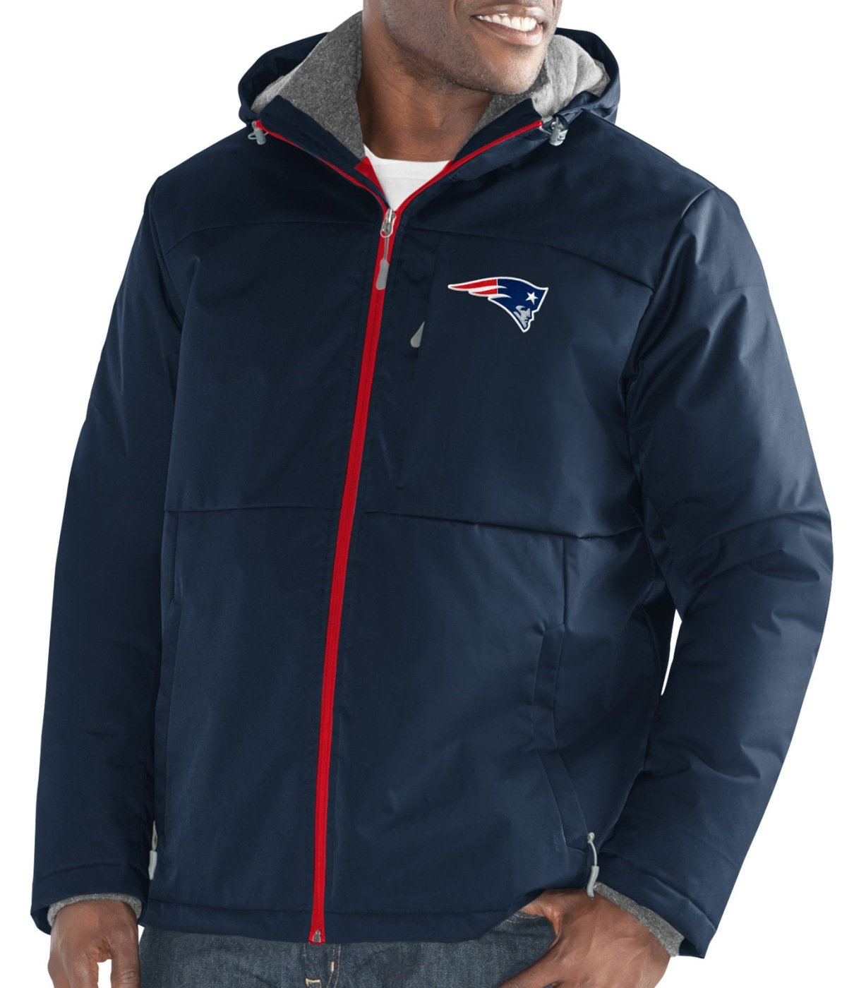 "New England Patriots Men's NFL G-III ""Points"" Full Zip Polyfill Dobby Jacket by G-III Sports"