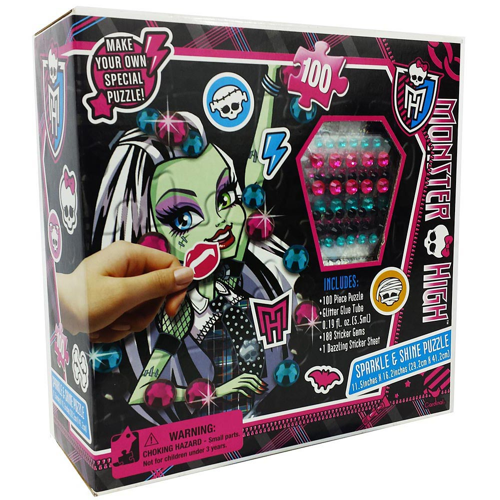 Monster High Sparkle and Shine DIY 100 Piece Puzzle