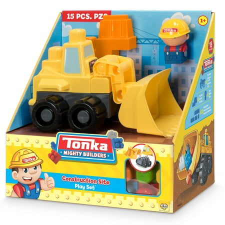 Tonka Mighty Builders Construction Site Play Set - Front Loader - 15 pcs