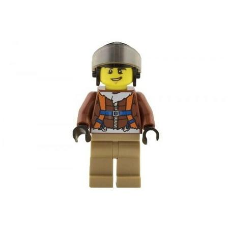 Lego City Minifig Artic Base Camp Helicopter Pilot Helmet Br Jacket CTY495 60036
